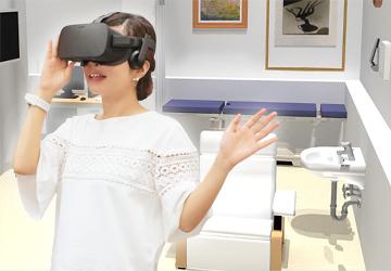 ヘッドマウントディスプレイ(HMD)で仮想空間をバーチャル体験